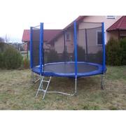 Modrá trampolína 305 cm s ochrannou síti + žebřík + krycí plachta