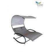 Vivere Double Chaise Rocker zahradní houpací postel, Sienna