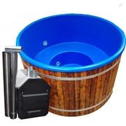 Koupací sud HOT TUB s modrou plastovou vložkou, TW, 7-8 osob, D=200 cm