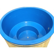 Koupací sud HOT TUB s modrou plastovou vložkou, Smrk, 7-8 osob, D=200 cm