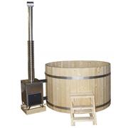 Koupací sud HOT TUB Smrk, 3-4 osoby, D=160 cm, externí kamna