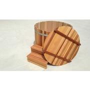 Dřevěné víko cedrové ke koupacímu sudu z cedru