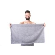 Ručník do sauny NordicSPA froté šedý, 50x90 cm