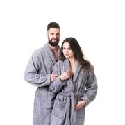 Župan do sauny NordicSPA froté šedý, unisex, vel. M