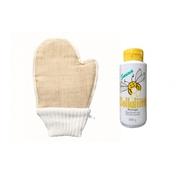 Set masážní rukavice a med do sauny